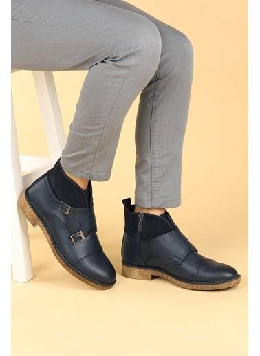 Ayakland Ayakland 5200 Cilt Termo Taban Erkek Bot Ayakkabı Lacivert